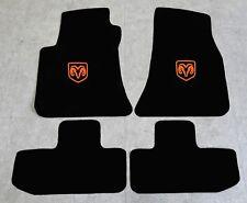 Autoteppich Fußmatten für Dodge Challenger ab Bj.2008 Velours Nubuk orange Neu