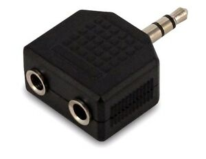 3.5 mm Earphone Headphone Y Splitter Cable Adapter Jack Male To Double Female UK