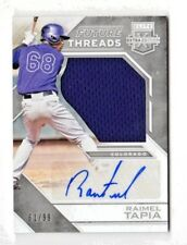 RAIMEL TAPIA MLB 2016 ELITE EXTRA EDITION FUTURE THREADS AUT0 SILVER (ROCKIES)