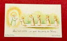 IMAGE PIEUSE VINTAGE B.L. PARIS 7621 SES TOUT-PETITS ANGES BÉBÉS Holy  picture