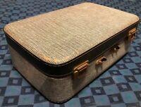 ancienne valise rétro vintage Rigide Noir et Blanche H 17 L 50 l 33 cm #75