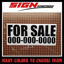 Custom For Sale Phone Number sticker / vinyl / decal
