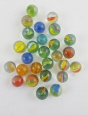 Vintage Lot of 24 Cross Through Cat's Eye Marbles