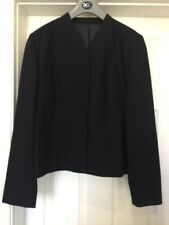 DCC Women's Work Uniform. Lined Fly Front Suit Jacket in Navy Blue Size 12L
