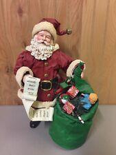 1992 San francisco music box company Santa with List & Toys Christmas