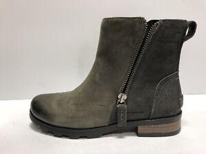 Sorel Women's Emelie, Zip-Up Booties-Gray, Size 7.5 M.