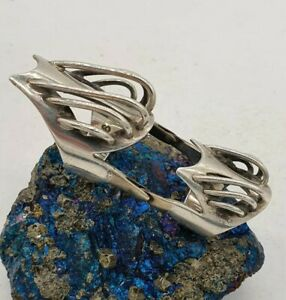 SOLID STERLING SILVER 925 ARMOUR RING. SIZE P, GOTHIC