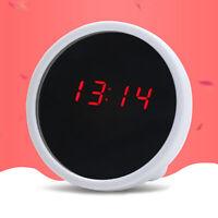 AU_ US_ AG_ BU_ Mirror Finish Digital Clock LED Display Silent Table Alarm Girls