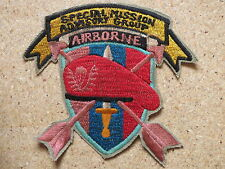 NAM WAR PATCH L866,    US 5th SPECIAL MISSION ADVISORY GROUP B-53 AIRBORNE , Vie