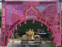 Indian Handmade Toran, Colourful Wall Hanging, Door Decor Curtain, Ethnic Hippie