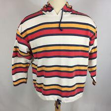 Vintage 80s 90s Surf Skate Street Stripe Grunge Hoody Jacket Sweatshirt Hoodie