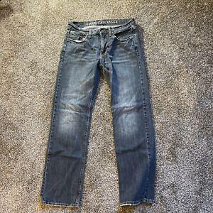American Eagle Original Straight Light Wash Distressed Men's Jeans 31x33