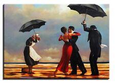 Jack Vettriano-The singing Butler 90x60cm Ölgemälde Leinwand Signiert