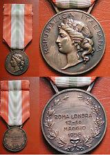 MEDAGLIA VIAGGIO DI STATO PRESIDENTE GIOVANNI GRONCHI ROMA -->LONDRA MAGGIO 1958