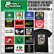 420 vol1 -VECTOR CLIPART- SCREEN PRINT/ VINYL CUTTER/ EPS