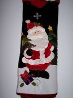 "Santa Christmas Tree Skirt Green, White, and Red Fleece 48"" By Trim a Home"