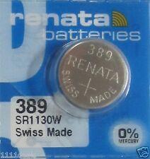 1 Renata 389 SR1130W Watch 0% MERCURY Battery