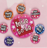 8pc Badge Set Bride To Be Hen Night Accessories  Party Favour Girls Night Out!!!