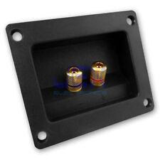 Square Recessed Speaker Metal Binding Post Terminal Connector Plate SubWoofer