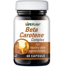 Lifeplan Beta Carotene Complex 60 Capsules - For healthy skin pigmentation
