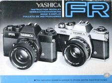 YASHICA FR SLR 35mm CAMERA OWNERS INSTRUCTION MANUAL
