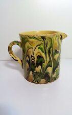 Ancien Pot Pichet terre vernissée poterie de Savoie Sciez art pop Pitcher jug