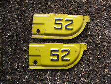 1951 51 1952 52 CALIFORNIA CA LICENSE PLATE TAB TAG ONLY SWEET PAIR SET 1