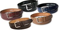 """MENS LEATHER LINED 30MM SUIT TROUSER BELT IN 6 COLOURS WAIST SIZE MEDIUM 32"""" NWT"""