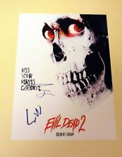 "EVIL DEAD 2 CAST PP SIGNED 12X8"" POSTER BRUCE CAMPBELL"