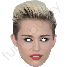 Miley Cyrus Version 2 Actress Celebrity Singer Card Mask - All Masks Are Pre-Cut