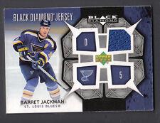 Barret Jackman 2007-08 UD Black Diamond Game Worn Jersey Card