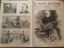 """LA PRESSE ILLUSTREE1877 N°493  """" LA MORT DE M. ADOLPHE THIERS """""""