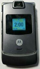 READ 1ST Motorola RAZR V3m - CDMA Gray (Tello) Cell Phone Very Good Used