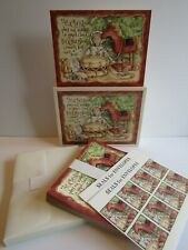 """New Box Of 16 Deluxe Christmas Cards Art By Shelly Smith """"Colonial Toys"""" Mint!"""