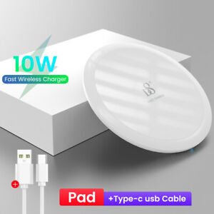 QI Fast Wireless Charger Charging Pad Dock for Android Samsung iPhone Cell Phone