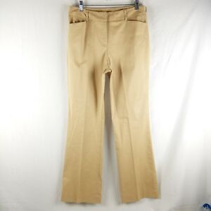 Anne Klein Trousers Women Size 10 Boot Cut Dress Pants Wheat