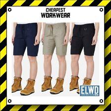 ELWD Elwood Workwear | WOMEN'S ELASTIC WAIST SHORTS (Navy Khaki Black) Maternity