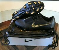 $250 Nike Phantom Venom Elite FG Black Gold ACC Soccer Cleats AO7540-077