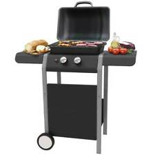 Barbecue a Gas 2 Bruciatori Griglia BBQ con Piani Laterali e Ruote Grill 5kw