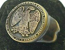 SPQR  Ancient Bronze Ring-Vintage-Antique ROMAN-BRONZE-RARE