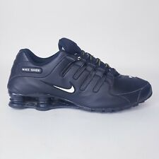 Nike Mens Shox NZ 501524-091 Black Leather Shoes Lace Up Low Top Size 15