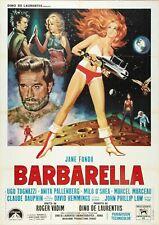 Barbarella Jane Fonda 60s Sci Fi Movie Poster Iron On Tee T-Shirt Transfer A5
