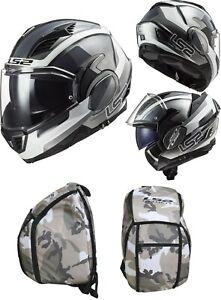LS2 FF900 Valiant II Orbit Flip up Helmet Motorcycle Vollklapphelm Free Backpack