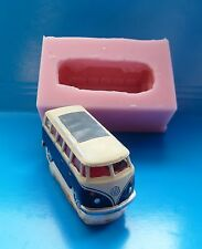 3D VW CAMPERVAN SILICONE MOULD FOR CAKE TOPPERS CHOCOLATE CLAY ETC
