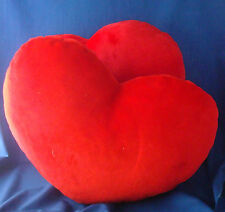 "2 large 15""x18""x5"" red plush heart Valentine's Day love throw pillows"