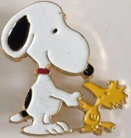 Vtg Peanuts Snoopy And Woodstock Pin Handshake Aviva Lapel Pin