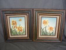 Pair of Vintage Floral O/C Paintings by Ivene Webb