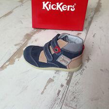 P18 - Chaussures garçon KICKERS NEUVES - Modèle Bivouac Marine - (72.00€)