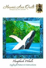 HUMPBACK WHALE Applique Quilt Pattern Ocean Under the Sea Life Jumping Migrating