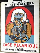 Lhote André Lithographie 1959 Affiche 160 x 120 cm art abstrait Mourlot cubiste